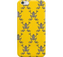Fabulous Frogs - Bold Yellow iPhone Case/Skin