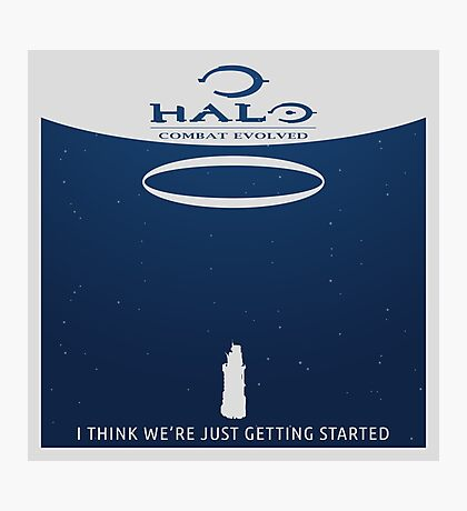 Minimalist Halo Combat Evolved Poster Photographic Print