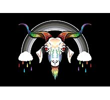 Rainbow Goat Photographic Print