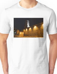 Of Stone Walls and Bell Towers - Yellow Lit Night in Old Town Plovdiv, Bulgaria Unisex T-Shirt