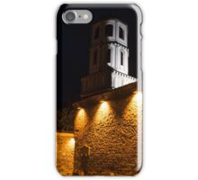 Of Stone Walls and Bell Towers - Yellow Lit Night in Old Town Plovdiv, Bulgaria iPhone Case/Skin