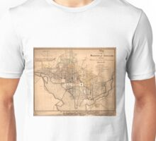 Vintage Map of Washington D.C. (1879) Unisex T-Shirt