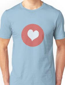 Striped heart red Unisex T-Shirt