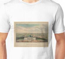 Vintage Pictorial Map of Washington D.C. (1880) Unisex T-Shirt