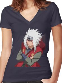 jiraiya Women's Fitted V-Neck T-Shirt