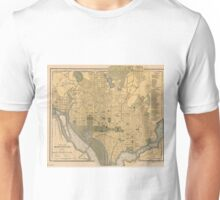 Vintage Map of Washington D.C. (1893) Unisex T-Shirt