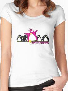 Outstanding Penguin Women's Fitted Scoop T-Shirt