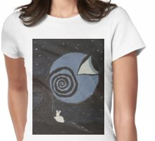 Treeye and the rabbit Womens Fitted T-Shirt