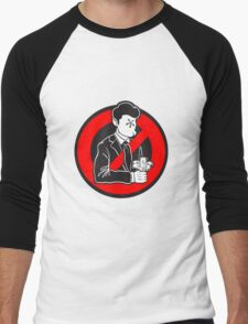 Evil and Greedy Corporation V2 Men's Baseball ¾ T-Shirt