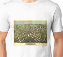 Vintage Pictorial Map of Westfield NJ (1875) Unisex T-Shirt
