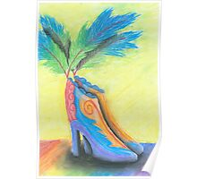 Shoes with feathers Poster