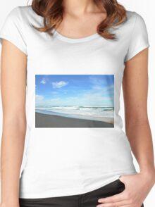 Shore Lines - Great Ocean Road Women's Fitted Scoop T-Shirt