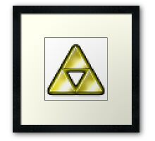 pixel triforce Framed Print