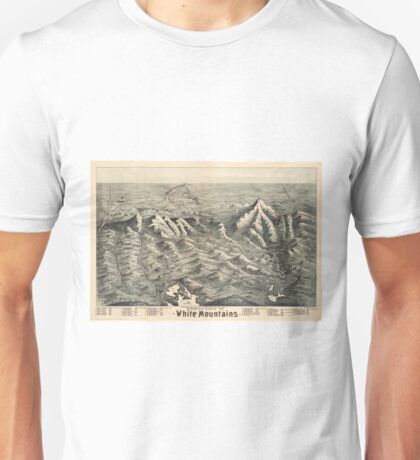 Vintage Map of The White Mountains (1890) Unisex T-Shirt