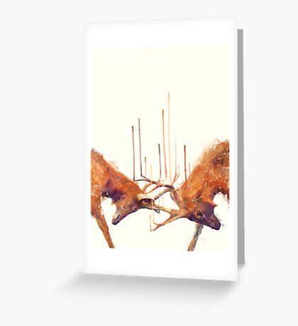 Stags // Strong Greeting Card