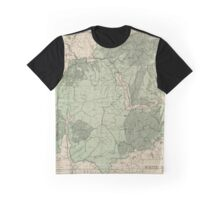 Vintage White Mountains New Hampshire Map (1915) Graphic T-Shirt