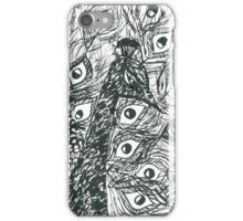 Ink peacock iPhone Case/Skin