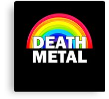 Death Metal Rainbow Canvas Print