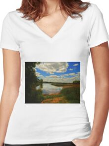 BEAUTIFUL AFTERNOON Women's Fitted V-Neck T-Shirt
