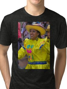 Dancer In The Pase Del Nino Parade IV Tri-blend T-Shirt