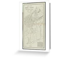 Vintage Map of White Plains NY (1921) Greeting Card