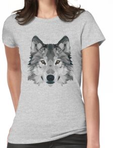 Crystalline Wolf Womens Fitted T-Shirt