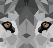 Crystalline Wolf Sticker