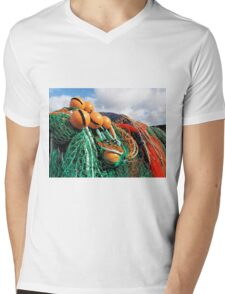 Fishing Gear At The Cobb 2 - Lyme Regis Mens V-Neck T-Shirt