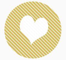 Striped heart yellow   Kids Tee