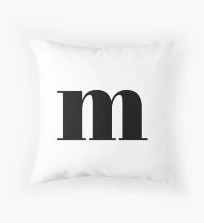 """M"" initial Throw Pillow"
