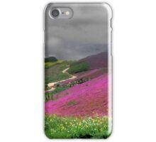 Clouds Over a Purple Field iPhone Case/Skin