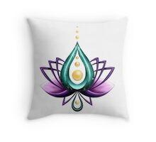 le lotus sacré  Throw Pillow