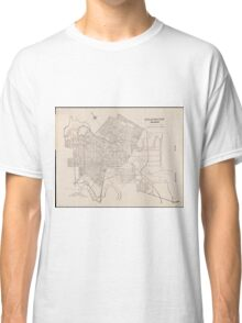 Vintage Map of Wilmington Delaware (1921) Classic T-Shirt