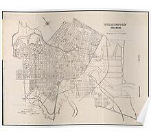 Vintage Map of Wilmington Delaware (1921) Poster