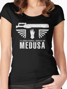 Pledge Eternal Service on Medusa - Limited Edition Women's Fitted Scoop T-Shirt