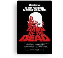 romero cult movie dawn of the  dead Canvas Print