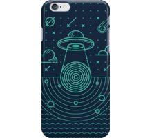 Ufo in dark night.  iPhone Case/Skin