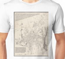 Vintage Map of Worcester Massachusetts (1919) Unisex T-Shirt