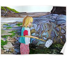 Port Isaac Rockpool Poster