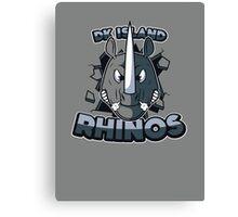 DK Island Rhinos Canvas Print