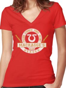 Macragge Heroes - Limited Edition Women's Fitted V-Neck T-Shirt