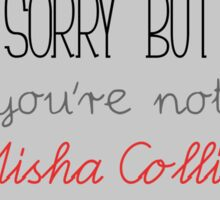 Sorry, you're not Misha Collins Sticker