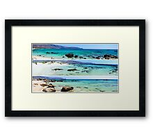 Photo collage of panoramic landscapes  Framed Print