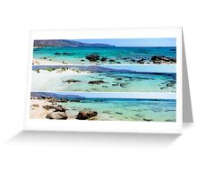 Photo collage of panoramic landscapes  Greeting Card