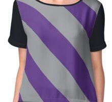 New York City New York Purple & Grey Team Color Stripes Chiffon Top