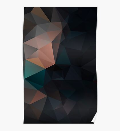 Abstract print geometrical pattern of triangles polygon. Fabric design in bright colors Poster