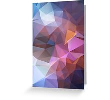 Abstract print geometrical pattern of triangles polygon. Fabric design in bright colors Greeting Card