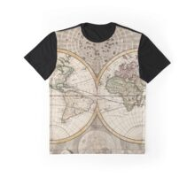 Vintage Map of The World (1687) Graphic T-Shirt