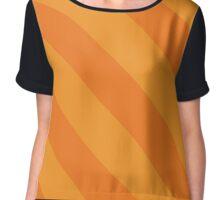 Stillwater Oklahoma Light Orange & Orange Team Color Stripes Chiffon Top