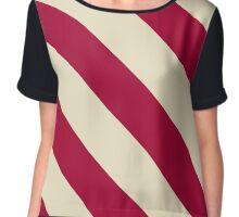 Norman Oklahoma Maroon & Cream Team Color Stripes Chiffon Top